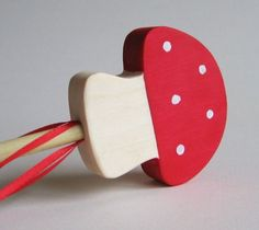 Toadstool wand for gnome birthday party