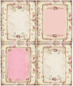 shabby chic scrapbooking printables