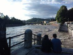 Il fiume Adige in piena - Verona 2013