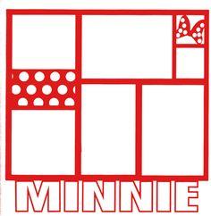 Theme Park: Minnie 12 x 12 Overlay Laser Die Cut