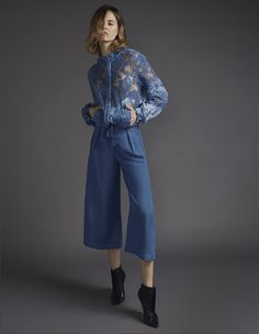 Rho Cropped Pants by Silvia Tcherassi