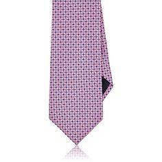 Ermenegildo Zegna Men's Micro-Diamond-Pattern Necktie (12.600 RUB) ❤ liked on Polyvore featuring men's fashion, men's accessories, men's neckwear, ties, pink, mens neck ties, mens pink ties, mens neckties and mens ties