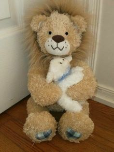 """EASTER! LION and the LAMB PLUSH stuffed TOY animal GUND """"GOD'S LOVE"""" MINT! 16"""" #GUND"""