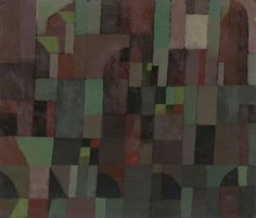 Paul Klee - Red/Green Architecture (yellow/violet gradation) - 1922