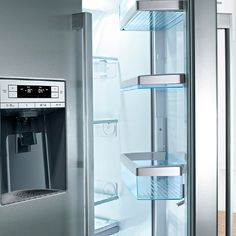 Bosch's SuperCooling and SuperFreeze functions temporarily lower the temperature in the fridge and freezer. Stay Cool, Storage Solutions, Freezer, Cabinet, Furniture, Design, Home Decor, Clothes Stand, Decoration Home