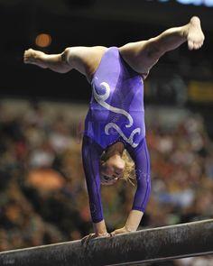 Nastia Liukin gymnast on balance beam gymnastics #KyFun