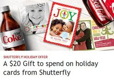 Coke Rewards: $20 Shutterfly Holiday Cards Credit for just 5 points