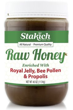 Royal Jelly, Bee Pollen & Propolis Raw Honey - Stakich ~~> 40 oz. $29.00