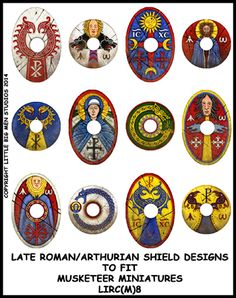 I quite like these designs as inspiration for shields for the cousins.