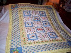 Handmade Baby Peter Rabbit & Sisters Cotton Baby/Toddler Quilt-NEWLY MADE 2016 by quilty61 on Etsy