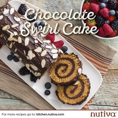 Chocolate Swirl Cake kitchen.nutiva.com - Looks difficult but delicious! Sounds like a challenge :)