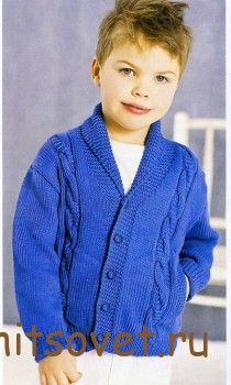 http://hitsovet.ru/detskij-zhaket-s-kosami/ Детский жакет с косами