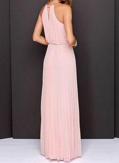 Pink Gold Chain Maxi Dress