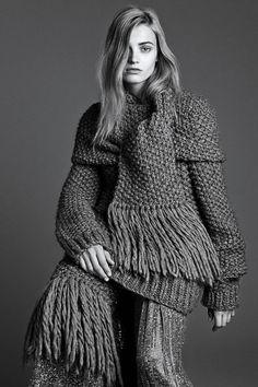 Michael Kors alpaca hand-knit pullover, <em>$795,</em> silk-sequined culotte, <em>$6,995,</em> and scarf, <em>$495, all select Michael Kors stores</em>