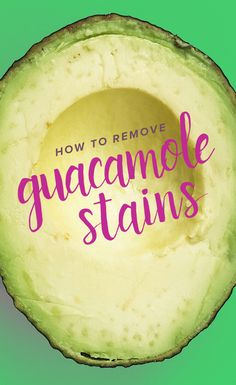 If you love avocados and guacamole, here's how to get out stains on clothes, table cloths, furniture and more. There are really good tips for getting out the oil from guacamole. Cleaning Solutions, Cleaning Hacks, How Do I Get, How To Remove, Stain On Clothes, Green Cleaning, Guacamole, Cloths, Avocado