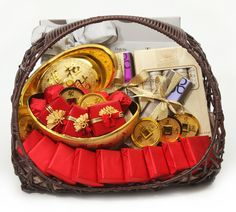 The Best Chinese New Year Gift Baskets Ideas With Red And Gold
