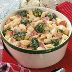 Pepperoni Caesar Pasta Salad Recipe