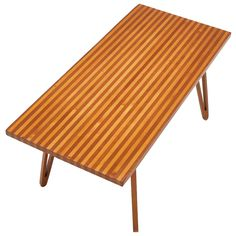 Unique scandinavian coffee/cocktail table with stripe pattern | From a unique collection of antique and modern coffee and cocktail tables at http://www.1stdibs.com/furniture/tables/coffee-tables-cocktail-tables/
