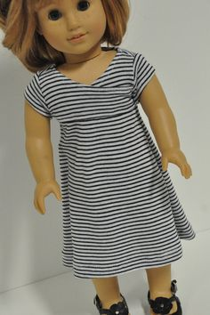 American Girl Doll Clothes  Cute Black and White by CircleCSewing