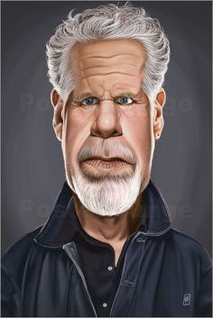 Rob Snow | caricatures - Ron Perlman art | decor | wall art | inspiration | caricatures | home decor | idea