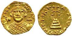 gold solidus coin of Leontius II