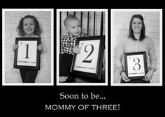 No I am NOT preggo! But someday if I have a I would love this! Baby Family, Children And Family, Cute Photos, Baby Photos, Family Photos, 3rd Baby Announcement, Birth Announcements, Baby Joey
