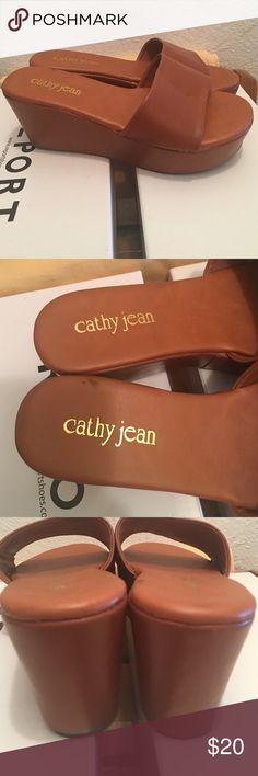 Cathy Jean platform sandals Platform sandals. Worn once. No box. Shoes Platforms