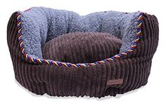 JustNile 17 Small Pet Dog Bed in Washable Cotton / Canvas - Brown by Hoopet ** Want to know more, click on the image.