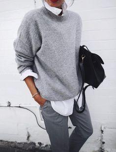 Нескучный серый: 42 потрясающих осенних образа