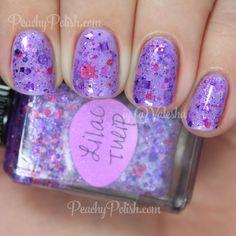 Lynnderella Lilac Tulip over Polish My Life Purple Flower Power   Spring Things Collection   Peachy Polish