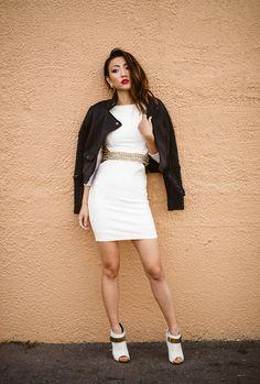 Nicole x missguided white dress junior
