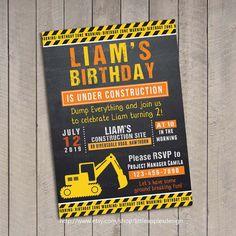 Birthday Invitation Construction / Dump by LittleApplesDesign, $12.00