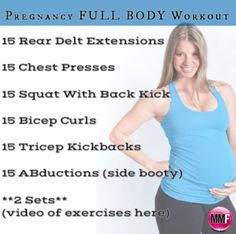Quick and easy full body workout that can be done from home. Will help you not gain a ton of weight during pregnancy.