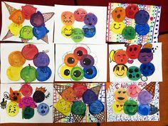 smART Class: Dogs, Color Wheels, and a fun jewelry idea! Color Wheel Lesson, Color Wheel Projects, Color Wheel Art, Art Projects, Ms Project, First Grade Art, Image New, Ecole Art, Art Classroom