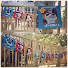 1st birthday party ideas---month by month banner