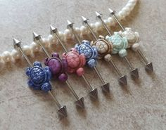 Industrial Barbell With Turtle Body Jewelry Ear by Yourjewelryhut, $10.95
