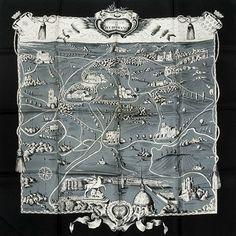 luxury-scarves.com 'Forêts en l'île-de-France', Hugo Grygkar. 1955