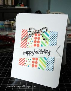 44 ideas birthday gifts diy cards washi tape for 2019 Handmade Birthday Cards, Happy Birthday Cards, Greeting Cards Handmade, Birthday Gifts, Birthday Diy, Birthday Greetings, Birthday Sayings, Happy Birthdays, Sister Birthday