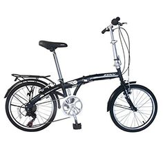 Zeny Compact Folding Bike 7 Speed Bicycle Foldable Storage Shimano School Mountain (Black, ** See this great product. Mountain Bike Brands, Mens Mountain Bike, Car Bike Rack, Car Racks, Bike Trainer, Carbon Road Bike, Folding Bicycle, Speed Bike, Bike Storage