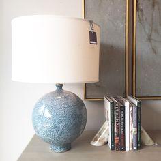 Alice Lane Home Collection   Blue ceramic lamp