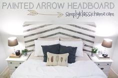 Painted Arrow Headboard & Master Bedroom Updates - Yellow Bliss Road