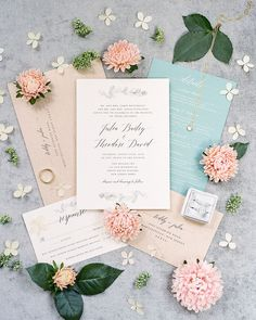 Our Favorite Summer Wedding Color Palettes Peach and Aqua wedding color scheme Aqua Wedding Colors, Blue And Blush Wedding, Summer Wedding Colors, Wedding Color Schemes, Summer Colors, Spring Wedding Invitations, Wedding Stationery, Aqua Color Schemes, Color Combos