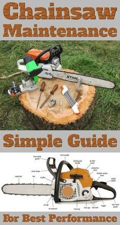Chainsaw maintenance guide! Learn how to take care of your chainsaw! Proper maintenance guarantees best performance for a longer period of time!