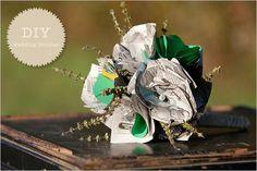 DIY Briadal flower bouquets : DIY wedding flowers  DIY Do It Yourself Eco Friendly Wedding Bouquet