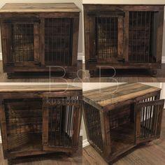 The Single Doggie Den™ Indoor Rustic Dog Kennel Crate