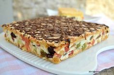 prajitura rumba reteta pas cu pas (1) Romanian Desserts, Romanian Food, Pie Recipes, Cooking Recipes, Eastern European Recipes, Sweet Tarts, Food Cakes, Homemade Cakes, Cake Cookies