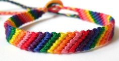 Friendship Bracelet - rainbow stripes