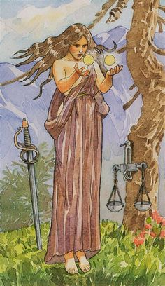 VIII Justice - Sorcerers Tarot by Antonella Castelli for Lo Scarabeo