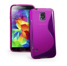 Purple Transparent Rubber Protective Case for Samsung Galaxy S5