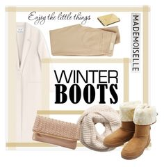 """""""#winterboots"""" by soyance ❤ liked on Polyvore featuring Acne Studios, H&M, M&Co, Deux Lux, AG Adriano Goldschmied, Rosanna, Goldgenie and winterboots"""